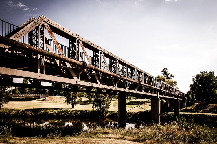Macquarie river bridge, Bathurst
