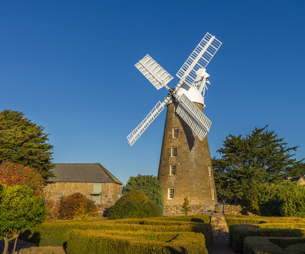 A working Georgian windmill built in 1837 that keeps its outentic outlook.