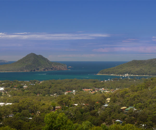 It's a nice spot where you can see all around Port Stephens from the height of above 160m.