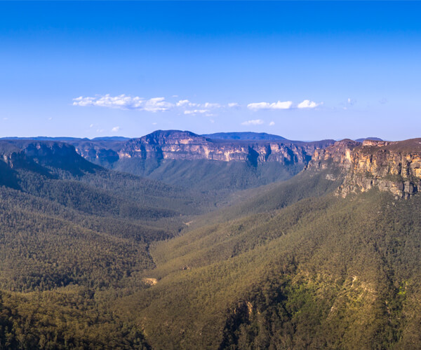 One of the most picturesque The Blue Mountains lookout with classical panoramic view.