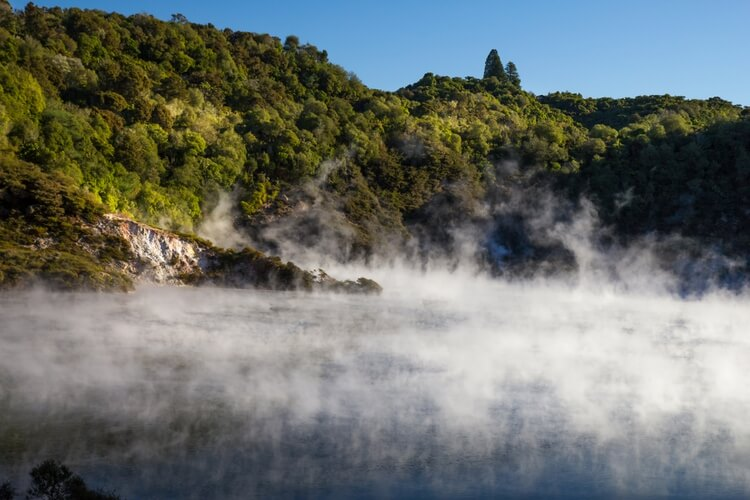 Steaming Lake in Waimangu Volcanic Valley