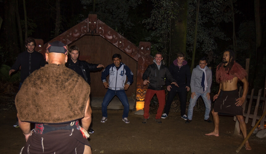 Tamaki Maori Village visitors entertainment