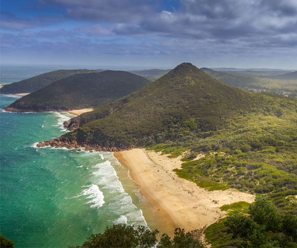 Tomaree Head, 161m above the Port Stephens entrance. As you hike the track, you'll enjoy unparalleled views of idyllic Port Stephens and its coastline.