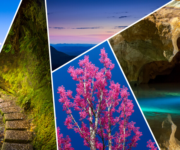 3-day long weekend escape to The Blue Mountains that covers main natural attractions such as gardens, mountains with canyons and caves.