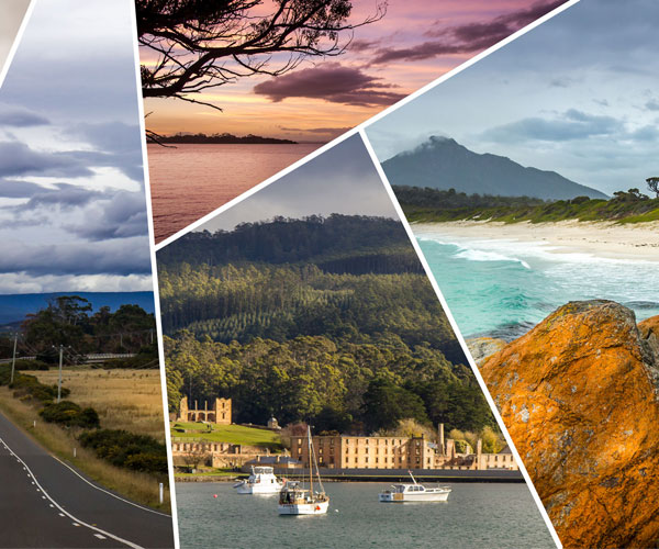4 day road trip in East-South cost Tasmania. Discover Hobart, convict towns, Port Arthur, Freycinet national park. Great travel idea for short long weekend trip